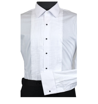 Men/'s Lay-Down Collar Tuxedo Shirt Size 4XL-36-37