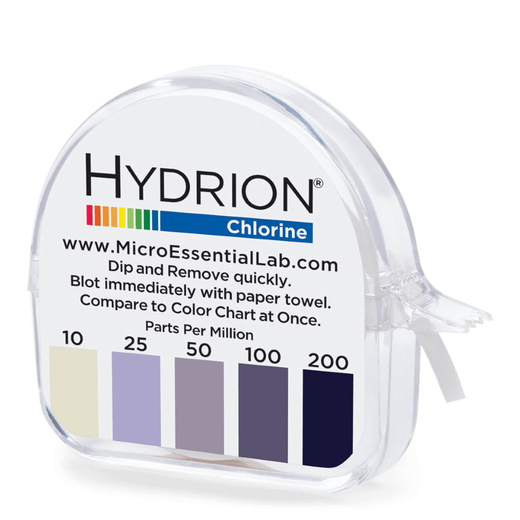 Hydrion Chlorine 10-200 ppm Test Kit - 4.5 Metre Paper Roll
