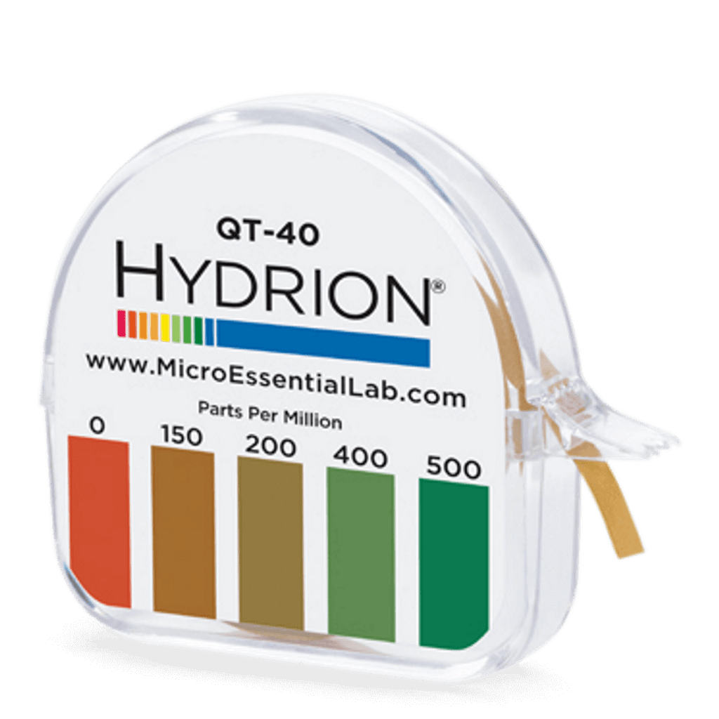Hydrion Quat 146 0-500 ppm Test Kit - 4.5 Metre Quaternary Test Paper