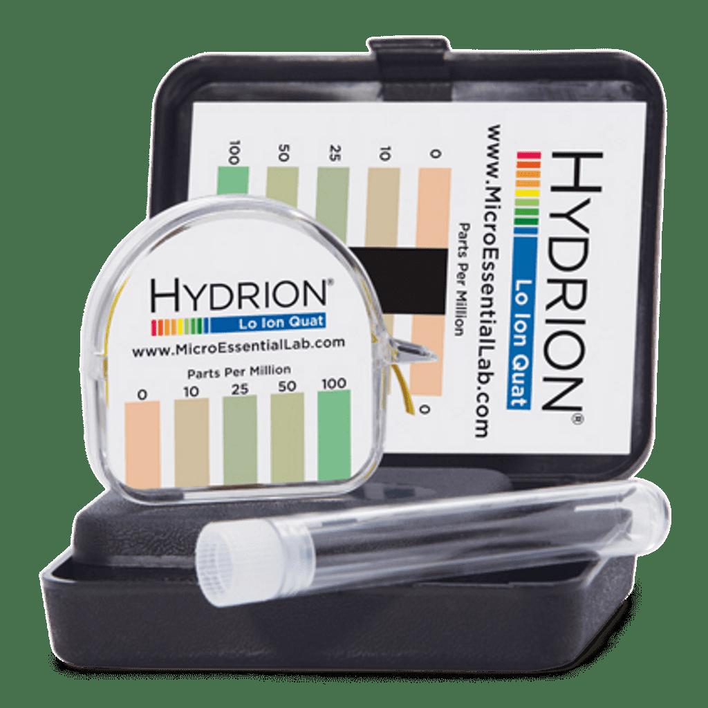 Hydrion Quat Lo Ion 0-100 ppm Test Kit - 4.5 Metre Quaternary Test Paper