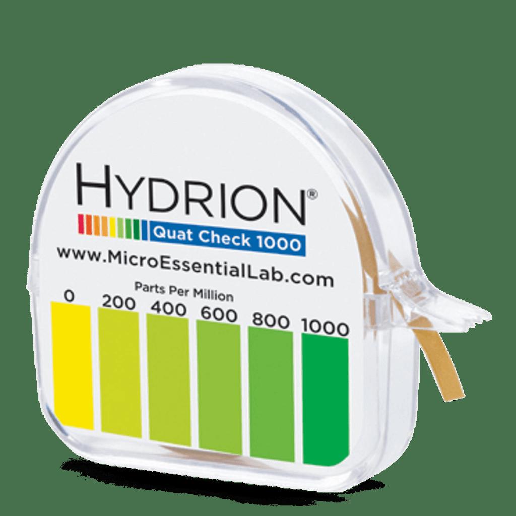 Hydrion Quat 0-1000 ppm Test Kit - 4.5 Metre Quaternary Test Paper