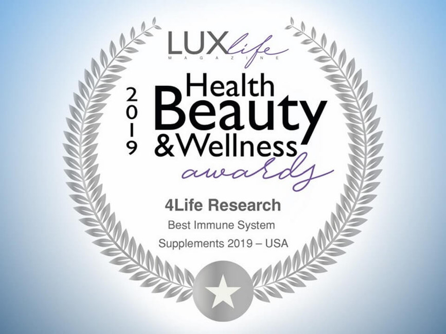 LUXlife Magazine names 4Life the 2019 Best Immune System Supplements
