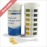 Hydrion 9700 pH 5.5 to 8.0 Test Kit - 100 Plastic pH Indicator Strips