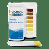 Hydrion Chlorine 0-1000 ppm Test Kit - 100 Test Strips