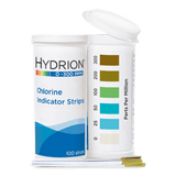 Hydrion Chlorine 0-300 ppm Test Kit - 100 Test Strips
