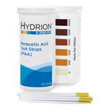 Hydrion Peracetic Acid 0-2000 ppm Test Kit - 50 PAA Indicator Strips