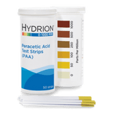 Hydrion Peracetic Acid 0-1000 ppm Test Kit - 50 PAA Indicator Strips