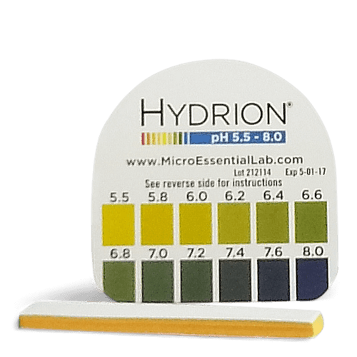 Hydrion pH Test Kit - 15 Paper pH 5.5 to 8.0 Indicator Strips