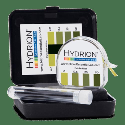 Hydrion Iodine 0-50 ppm Test Kit - 4.5 Metre Iodine Test Paper