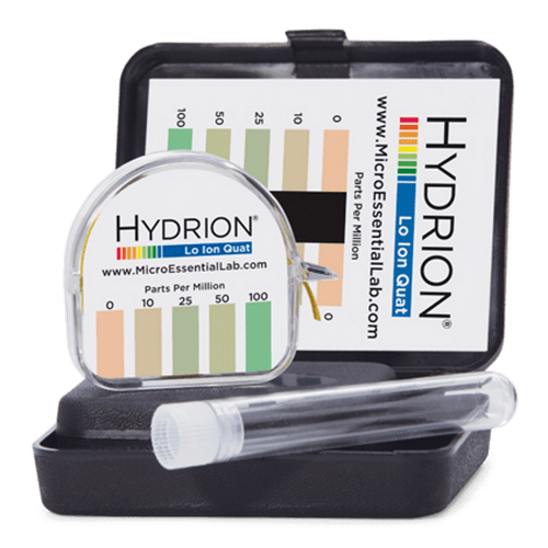 Hydrion Quat Lo Ion 0-100 ppm Test Kit - 4.5 Metre Quaternary Test Paper