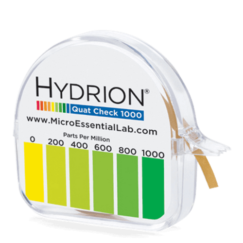 Hydrion Quat 0-1000 ppm Test Kit - 4.5 Metre Quaternary Test Paper