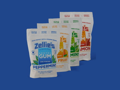 New Product: Zellie's Xylitol Gum Month Supply Pouch