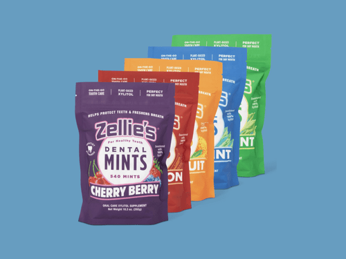 New Product: Zellie's Xylitol Mints Month Supply Pouch