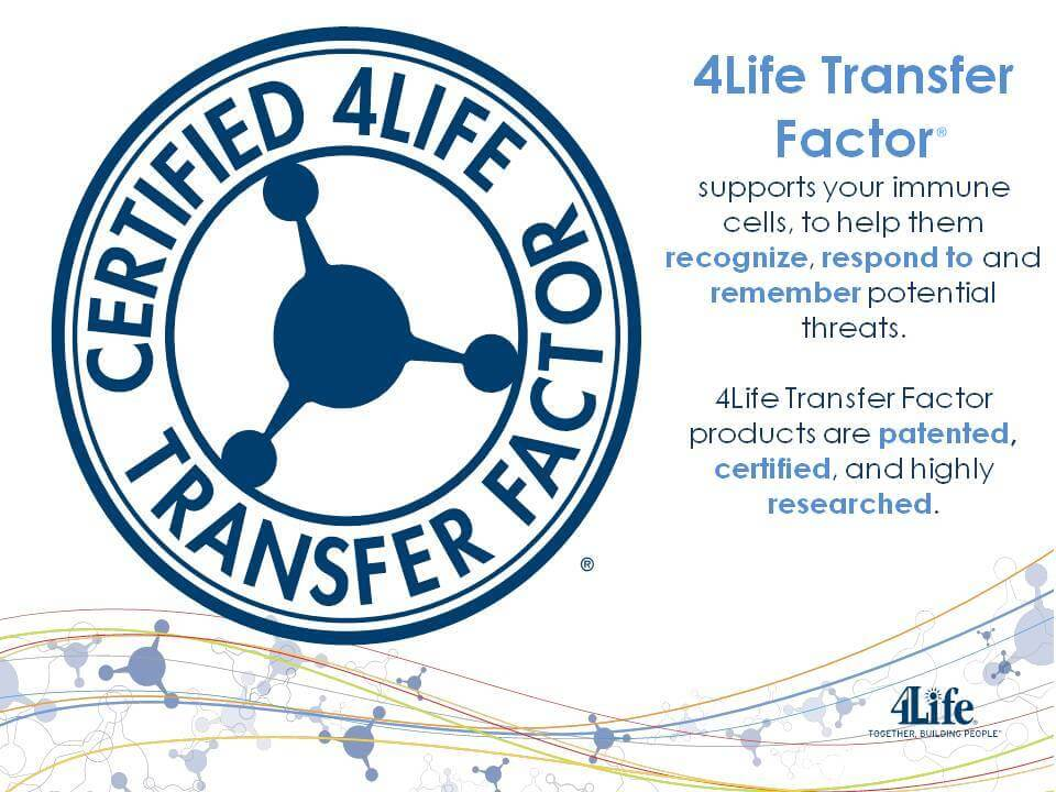 4Life Transfer Factor Certified