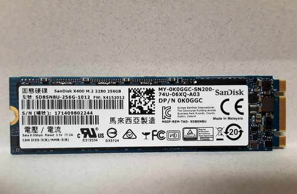M.2  REFURBISHED SSD 256GB ' DIFFERENT BRANDS-TESTED