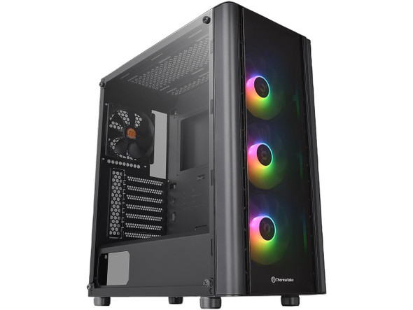 Thermaltake V250 Tempered Glass ARGB Edition 5V MB RGB Sync ATX Mid-Tower Chassis with 3 x 120mm 5V Addressable RGB Fan + 1 x Black 120mm Rear Fan Pre-Installed