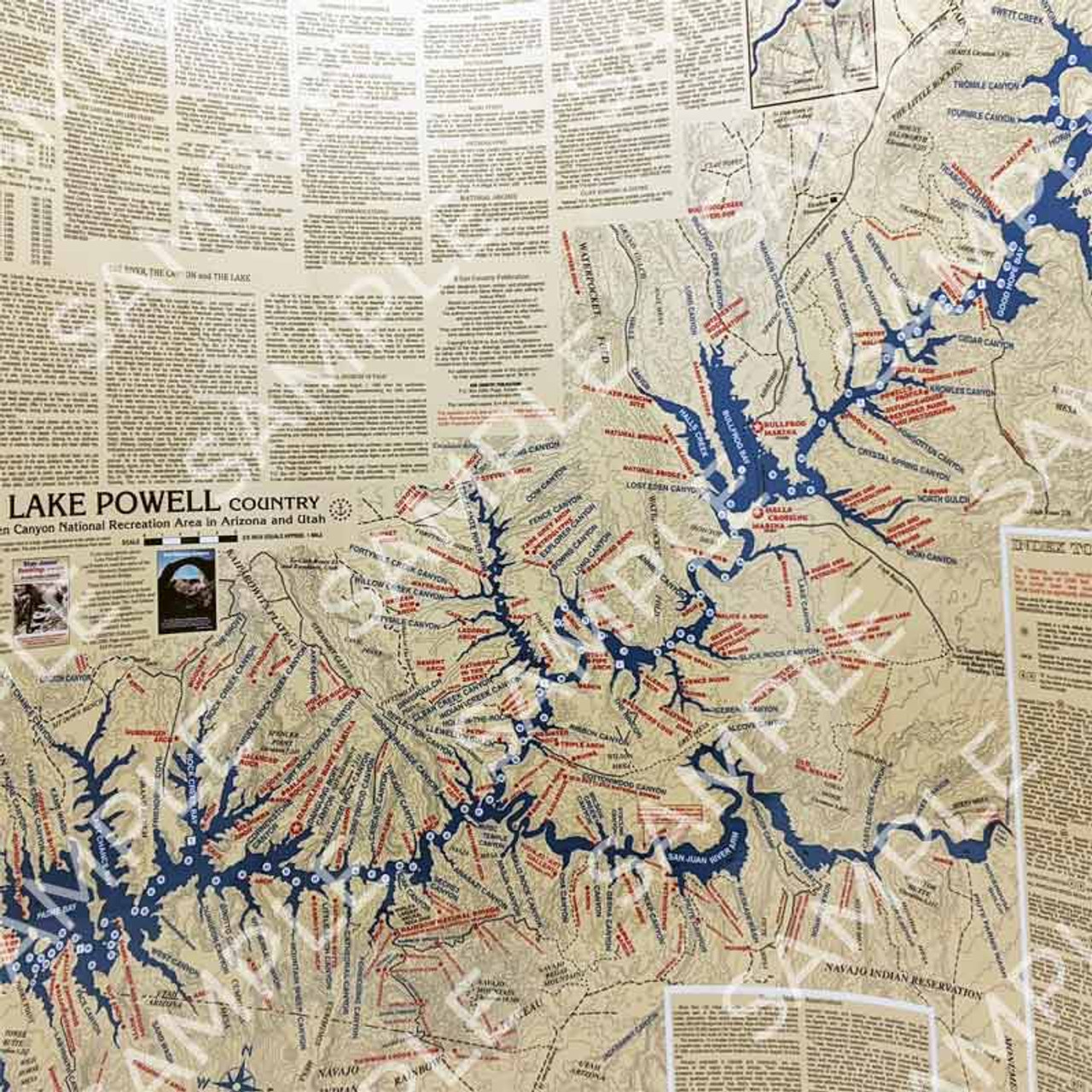 Stan Jones Lake Powell Map Laminated - Boater's Outlet