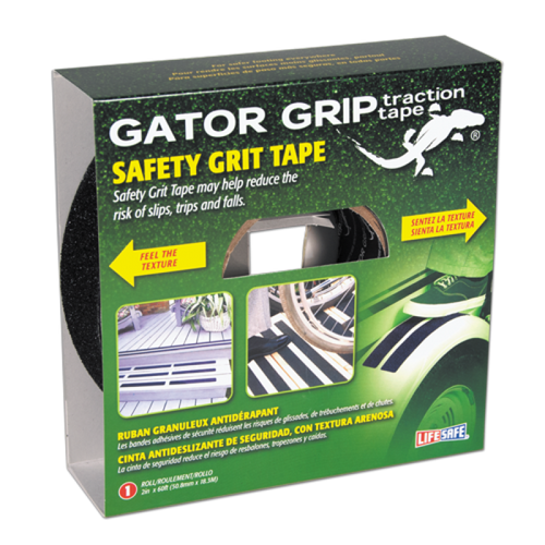 "Gator Grip Traction Black Grit Tape 2"" x 60' or 4"" x 60' Rolls"