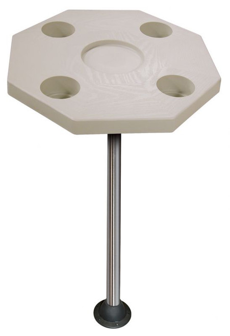 JIF Marine Octagonal Ivory Table Kit w/Surface Mount
