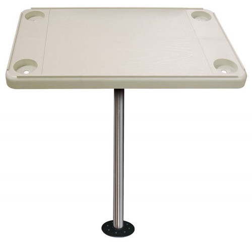 JIF Marine Rectangular Ivory Table With Surface Mount