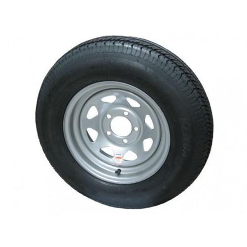 Kenda KR03 ST175/80R13 Tire with 8-Spoke Steel Silver Wheel