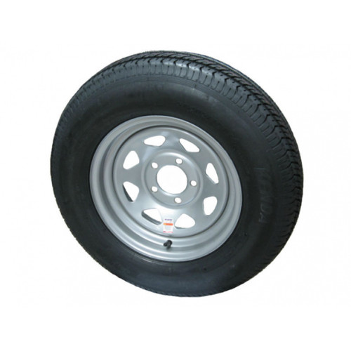 Kenda KR03 ST205/75R14 Tire with Directional Steel Silver Wheel