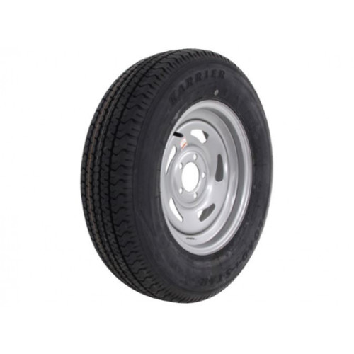 Kenda KR03 ST205/75R15 Tire with Mod Steel Silver Wheel