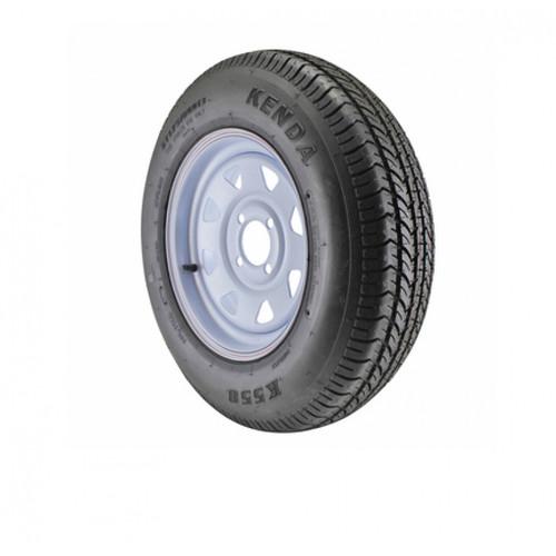 Kenda KR03 ST225/75R15 Tire with Spoke Steel White Wheel