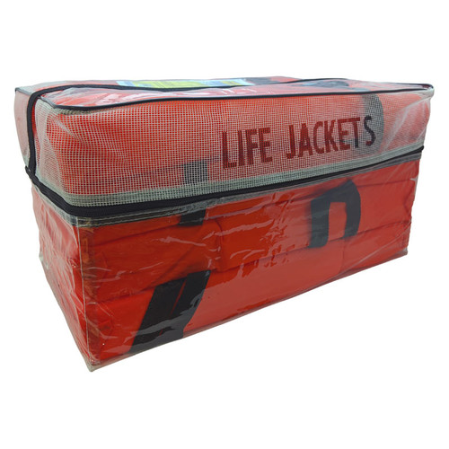 Adult Orange Universal Life Vest - 4 Pack With Storage Bag