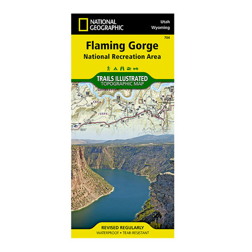 National Geographic Flaming Gorge Map
