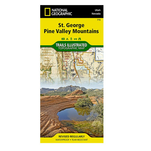 National Geographic St George and Pine Valley Mountain Map