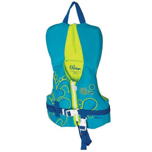 O'Brien Boy's Infant Neoprene Life Jacket Aqua/Green 0-30 Lbs