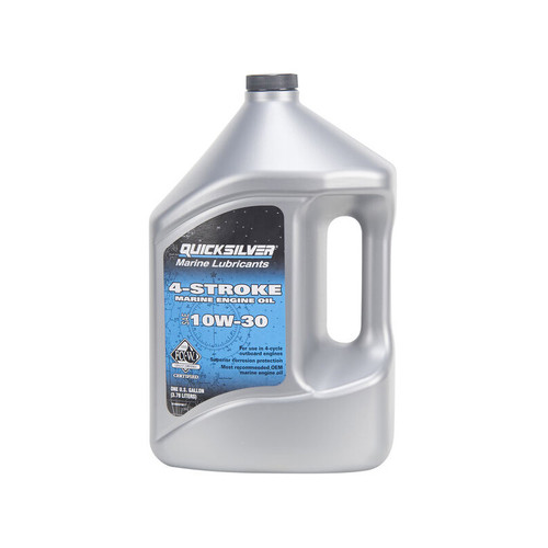 Quicksilver 10W-30 4-Stroke Marine Engine Oil - Gallon
