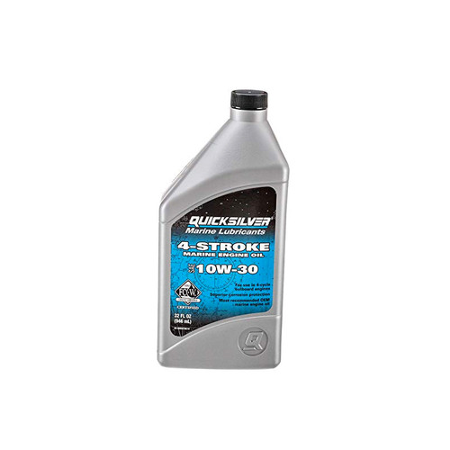 Quicksilver 10W-30 4-Stroke Marine Engine Oil - Quart