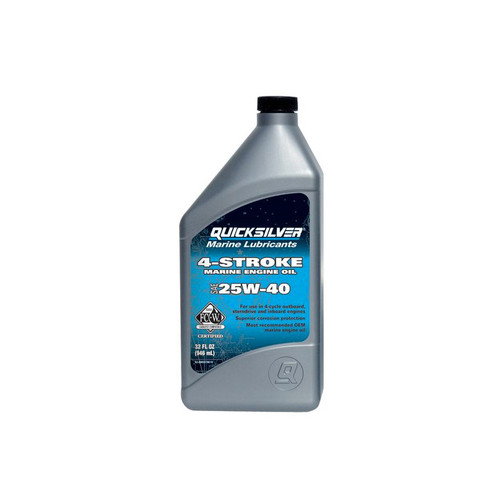 Quicksilver 25W-40 4-Stroke Premium Marine Engine Oil - Quart