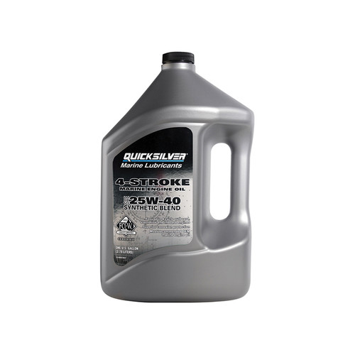 Quicksilver 25W-40 4-Stroke Synthetic Blend Marine Engine Oil - Gallon