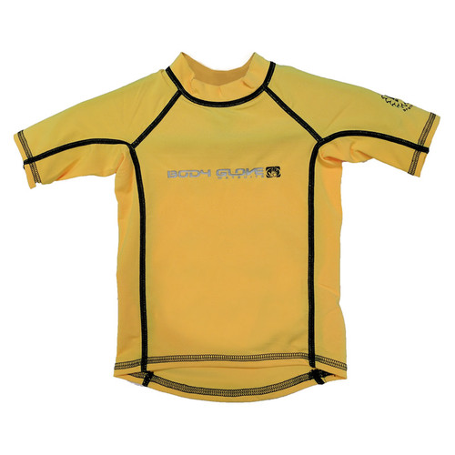 Body Glove Short Sleeve Kid's Rashguard Yellow