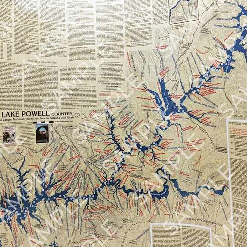 Stan Jones Lake Powell Map Laminated