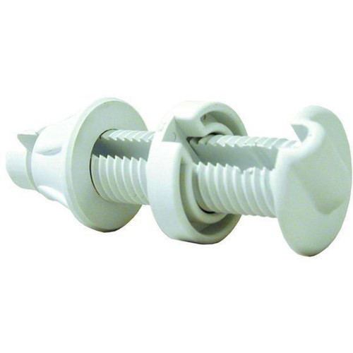 TH Marine Bulkhead Pass-Thru Fitting White
