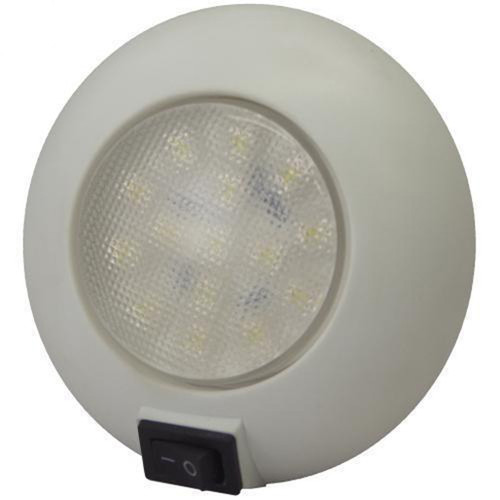 TH Marine LED Surface Mount Dome Light White