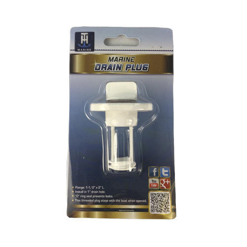 TH Marine Plastic White Drain Plug