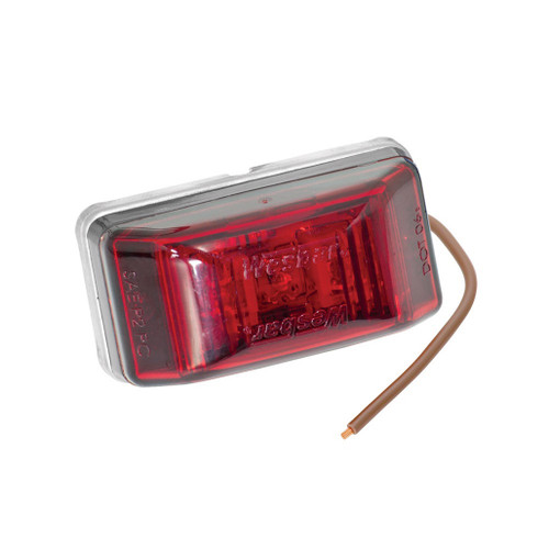 Wesbar LED Rectangular Red Clearance Light