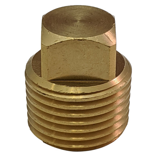 "Whitecap Brass Garboard 1/2"" Drain Plug Side view"