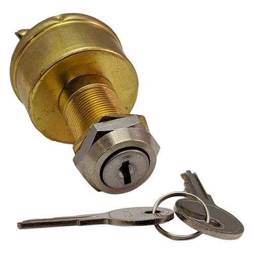 Whitecap Brass Ignition Switch view with keys