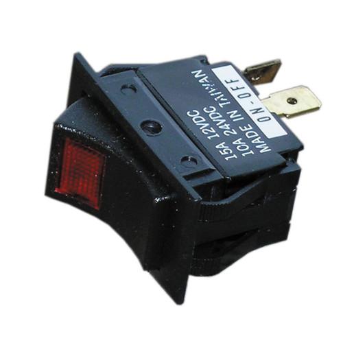 White Cap Illuminated Rocker Switch