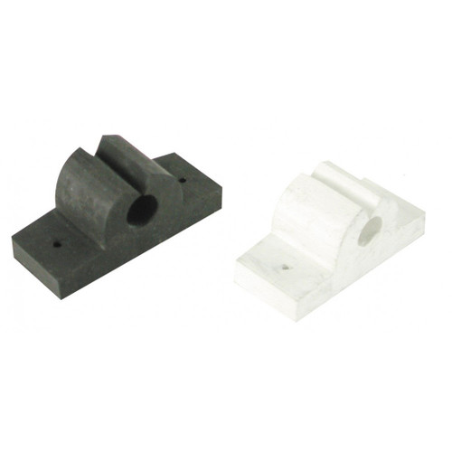 White Cap Rubber Rod Tool Holder Black or White