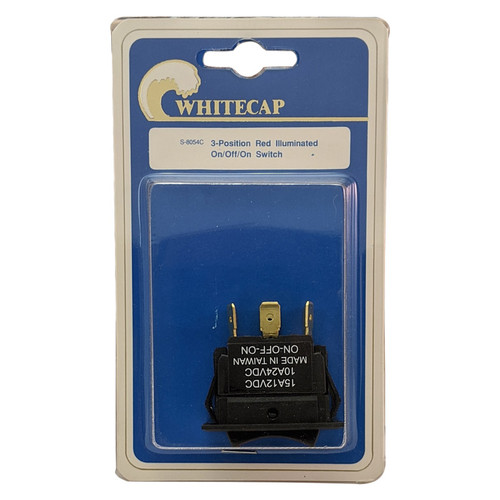 Whitecap Illuminated 3 Position Rocker Switch