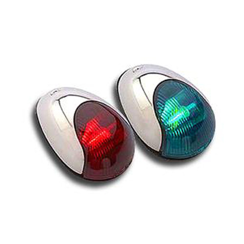 Attwood 2-Mile Vertical Mount Red or Green Navigation Lights Stainless Steel Product Image
