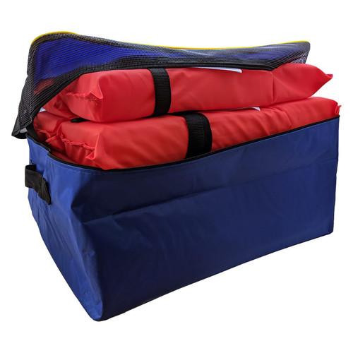 Adult Orange Universal Life Vest - 5 Pack With Storage Bag