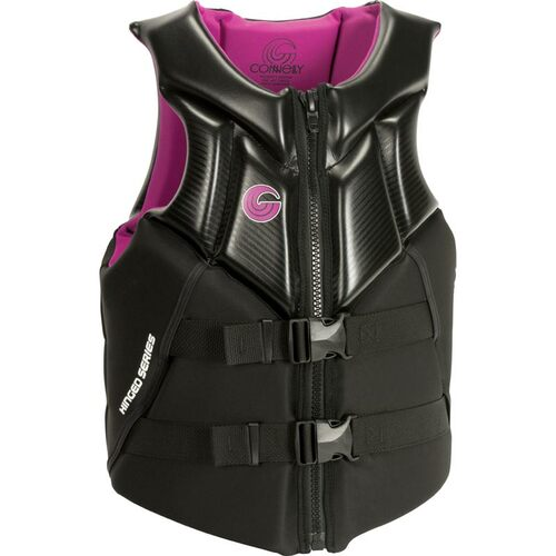 Connelly Concept Women's Neoprene Life Jacket Pink/Black  Front